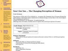 Now I See You... The Changing Perception of Women Lesson Plan