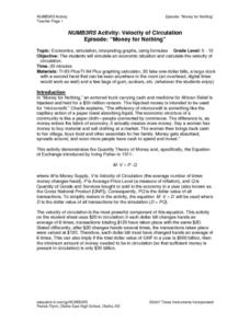 NUMB3RS Activity:  Velocity of Circulations Lesson Plan