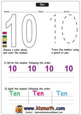 Number 10 Worksheet