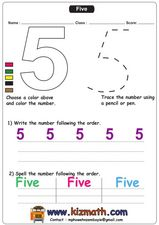Number 5 Worksheet