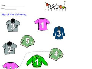 Number Coats Worksheet