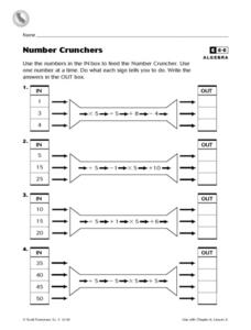 Number Crunchers Worksheet