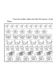 Number Insects Worksheet