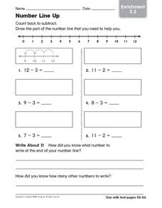 Number Line Up Worksheet