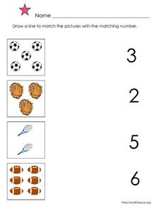 Number Matching Lesson Plan