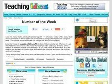 Number of the Week Lesson Plan