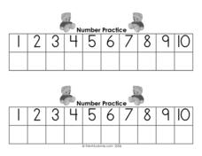 Number Practice: 1-10 Worksheet