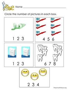Number Practice: 2-8 Worksheet