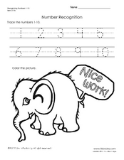 Number Recognition Worksheet