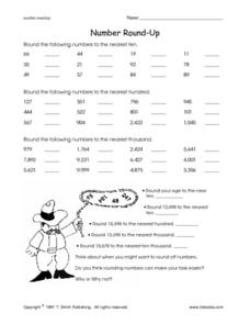 Number Round-Up Worksheet