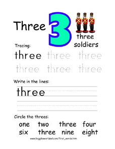 Number three Worksheet