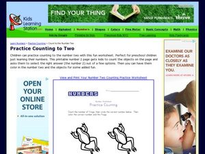 Number Worksheet: Practice Counting Worksheet