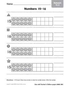 Numbers 15-16 reteach 15.3 Worksheet