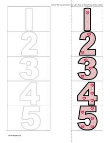 Numbers Cut And Paste Worksheet