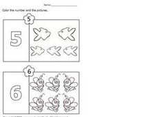 Numbers Five and Six Worksheet