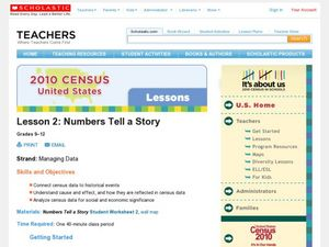 Numbers Tell a Story Lesson Plan