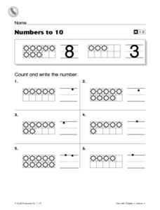 Numbers to 10 Worksheet