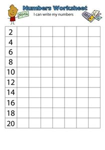 Numbers Worksheet Worksheet