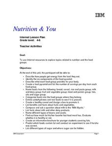 Nutrition and You Lesson Plan