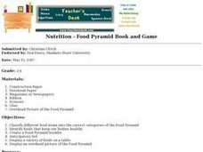 Nutrition - Food Pyramid Book and Game Lesson Plan