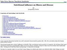 Nutritional Influence on Illness and Disease Lesson Plan