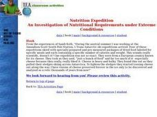 Nutritition Expedition -- An Investigation of Nutritional Requirements Under Extreme Conditions Lesson Plan