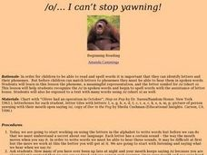 /o/... I can't stop yawning! Lesson Plan