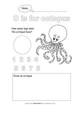 O is for Octopus Worksheet