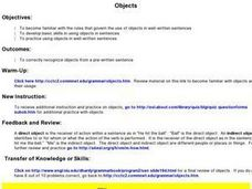 Objects Lesson Plan