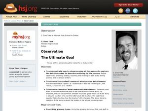 Observation Lesson Plan