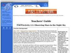 Observing Mars in the Night Sky Lesson Plan