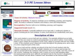 Obstacle Soccer Lesson Plan