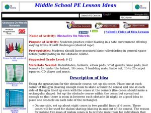 Obstacles On Wheels Lesson Plan