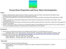 Ocean Floor Properties and Near Shore Environments Lesson Plan