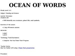 Ocean of Words Lesson Plan