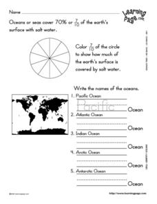 Oceans of the World Lesson Plan