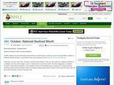 October: National Seafood Month Lesson Plan