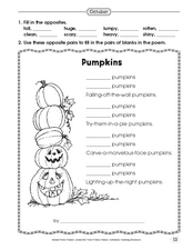 October Worksheet
