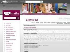 Odd One Out Lesson Plan