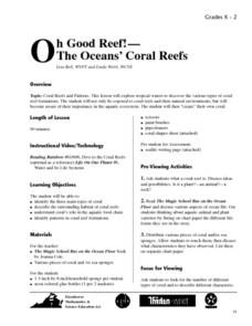 Oh Good Reff!-The Oceans' Coral Reefs Lesson Plan