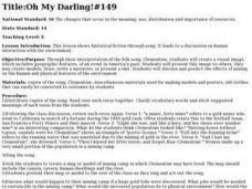 Oh My Darling Lesson Plan