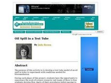 Oil Spill in a Test Tube Lesson Plan