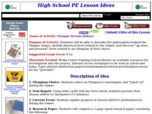 Olympic Dream Makers Lesson Plan