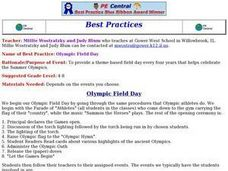 Olympic Field Day Lesson Plan