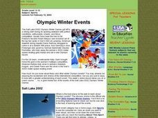 Olympic Winter Events Lesson Plan