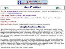 Olympics Wax Works Museum Lesson Plan