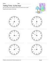 On the Hour:  Telling Time Worksheet