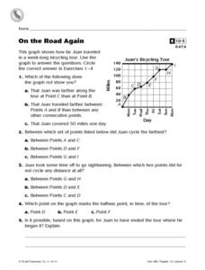 On the Road Again Worksheet