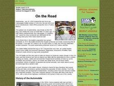 On the Road Lesson Plan