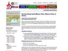 On the Road with Marco Polo: Marco Polo in China Lesson Plan